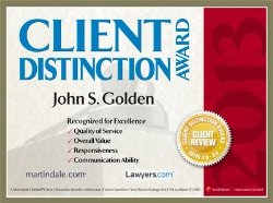 Martindale and Lawyers.com Client Distinction Award